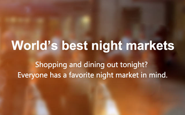 World's best night marketes