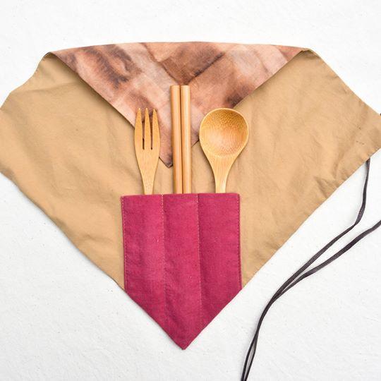 大地野餐匙筷三件組+喜柿杯套組-新埔十大伴手禮票選