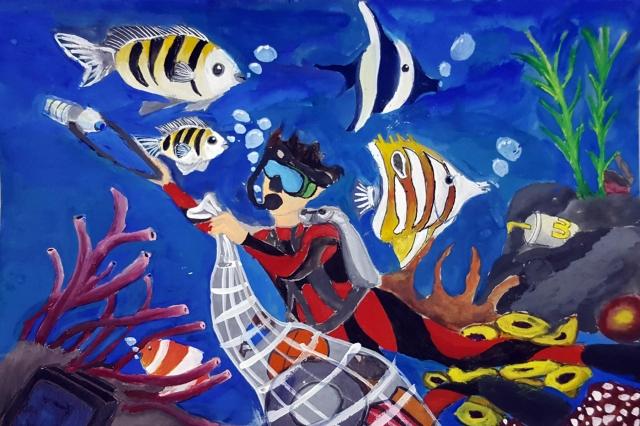 海底清潔員 | 林家弘-育成基金會 - 第10屆 夢想實現家 繪畫比賽 「網路人氣王」 票選活動 開跑囉~