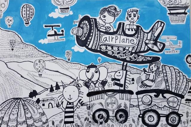 乘著夢想遨遊全世界 | 黃韻伃 -育成基金會 - 第10屆 夢想實現家 繪畫比賽 「網路人氣王」 票選活動 開跑囉~