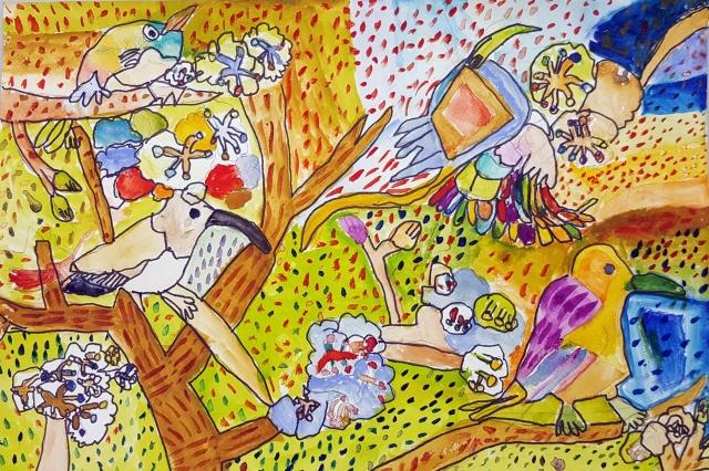七色鳥 | 王閔柔-育成基金會 - 第10屆 夢想實現家 繪畫比賽 「網路人氣王」 票選活動 開跑囉~