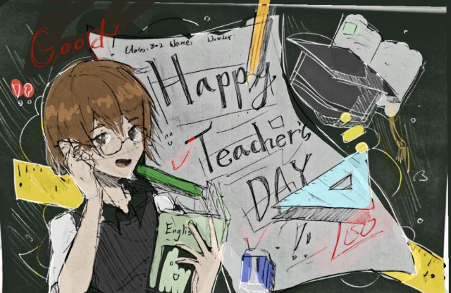 吳于晴 - Happy Teacher's Day-曬曬教師節賀卡徵件