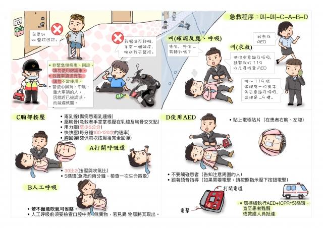 救是專業CD-緊急救護四格漫畫創意徵選活動