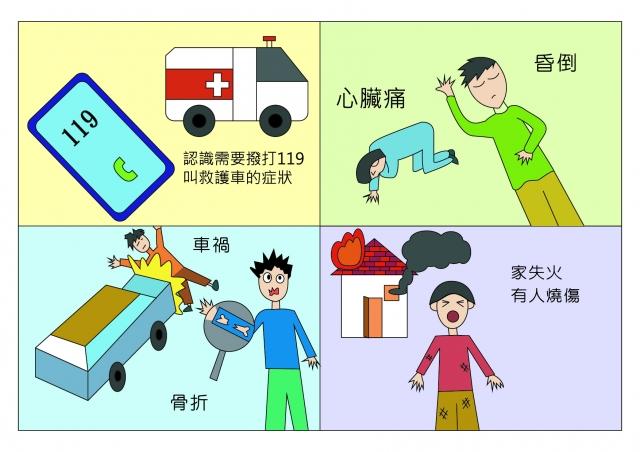 需要救護車的情況-緊急救護四格漫畫創意徵選活動