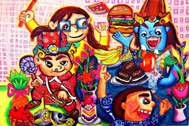 黃清棣 | 中元普渡來來來-育成基金會 - 第12屆繪畫比賽 「網路人氣王」 票選活動