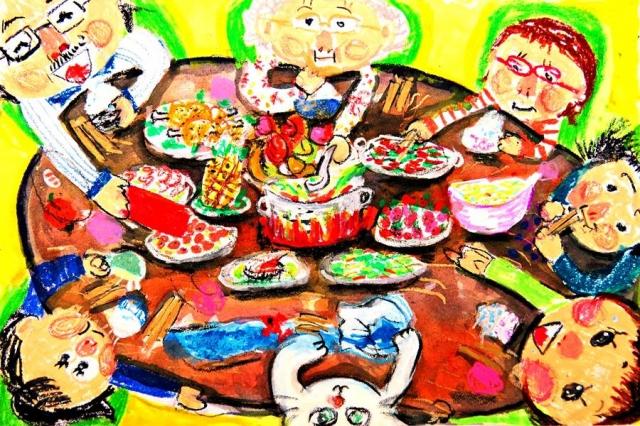 劉宣圻 | 家家都有團圓飯-育成基金會 - 第12屆繪畫比賽 「網路人氣王」 票選活動