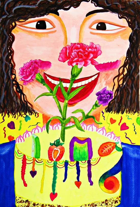 蕭家宏 | 最幸福的節日母親節-育成基金會 - 第12屆繪畫比賽 「網路人氣王」 票選活動