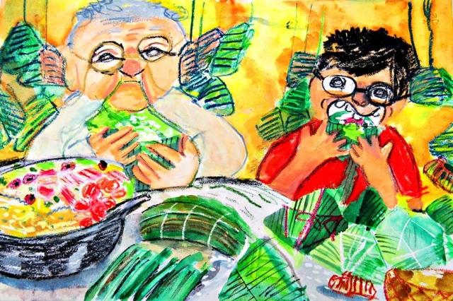 羅義閎 | 端午包粽子去-育成基金會 - 第12屆繪畫比賽 「網路人氣王」 票選活動